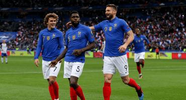 El gol de Olivier Giroud para superar a Trezeguet como goleador de Francia