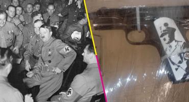 Y, ¿la pistola del Chapo? En Sinaloa detienen a sujeto que portaba un arma con la imagen de Hitler