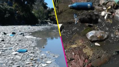 ¿Por qué son así? Vecinos llenan de basura a la Presa Becerra en CDMX