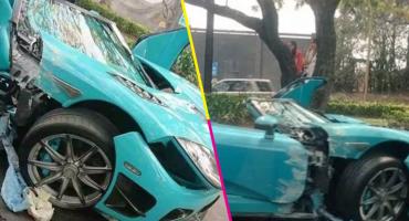 Tsss, rápido y furioso: Difunden video del momento exacto del choque del Koenigsegg
