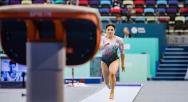 Alexa Moreno se queda a una décima de las medallas en la Copa del Mundo de Gimnasia