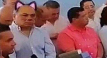 Awww, le ponen filtro de gatito a gober de Guerrero... corren a responsable de transmisión