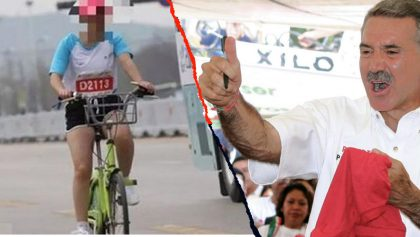 ¿Haciendo un Madrazo? Atleta china fue descalificada por usar bicicleta en un maratón