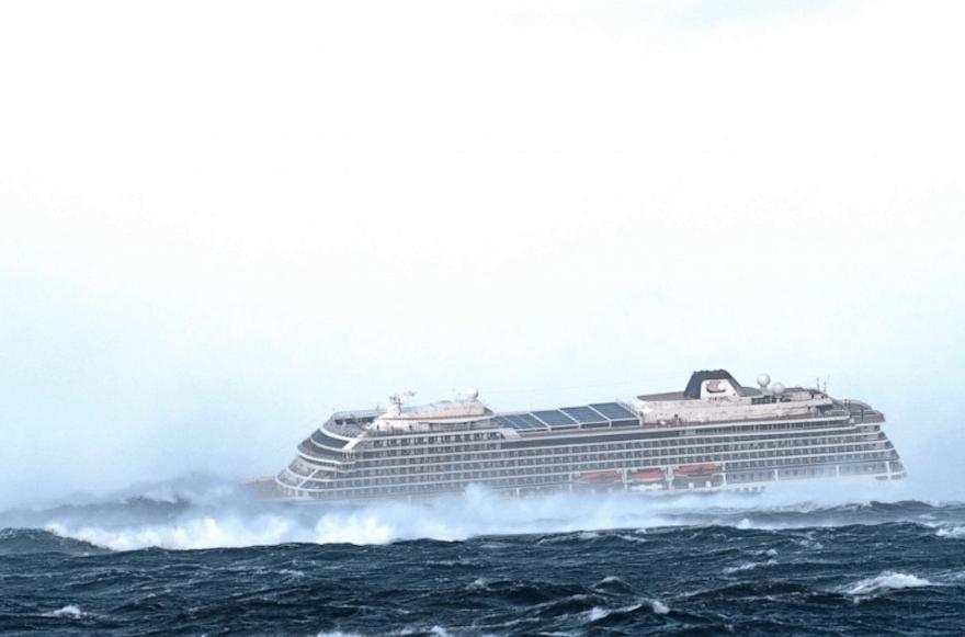 El crucero del terror! Un barco naufraga en Noruega con 1, 300 personas en medio de la nada