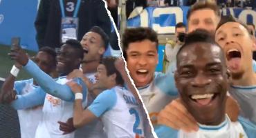 Balotelli marcó un golazo con el Marsella y lo festejó en Instagram Stories 🤳🏻