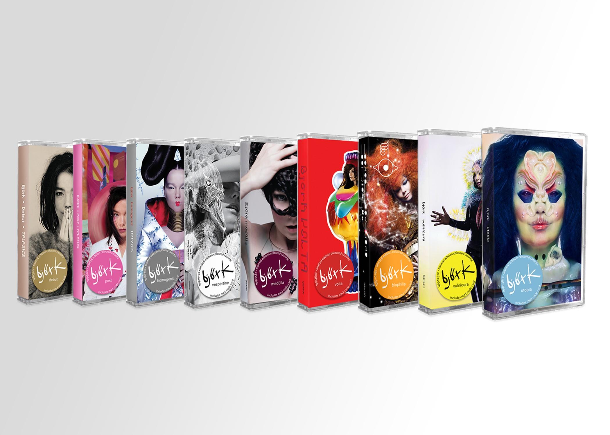 Back to the 80s like... Björk relanzará todos sus discos en formato casete