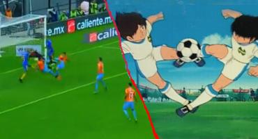 El gol de Bruno Valdez al estilo de los Supercampeones en el América-Tigres