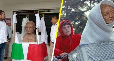 Y nadie hace nadaaaa: Inauguran busto de Benito Juárez que parece alien y la memiza se deja venir