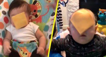 Y porque nadie lo pidió: Llega el #CheeseChallenge y a los bebés no les gusta esto
