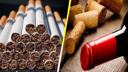 ¿A cuántos cigarrillos equivale tomarse una botella de alcohol?
