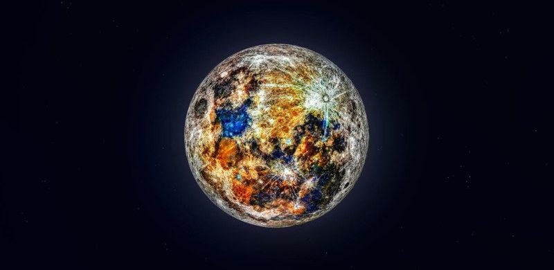 Esta foto revela los verdaderos colores de la Luna