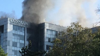 Incendio en el edificio de Conagua