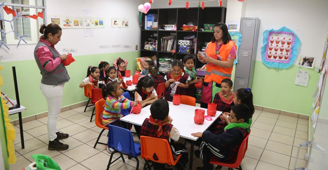 Apenas el 37% de preescolares en México cuentan con agua, luz y sanitarios: INEE