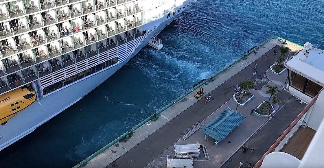 El crucero que abandonóa dos pasajeros por llegar tarde.