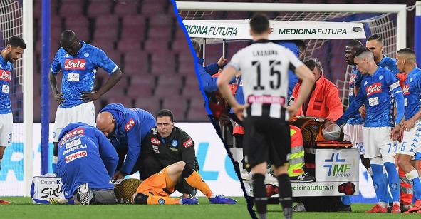 Ospina prendió alarmas en pleno partido tras sufrir un golpe en la cabeza y desmayarse 35 minutos después