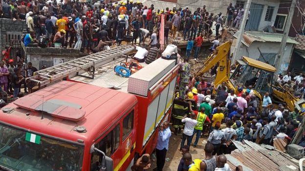 Derrumbe en escuela de Lagos, Nigeria