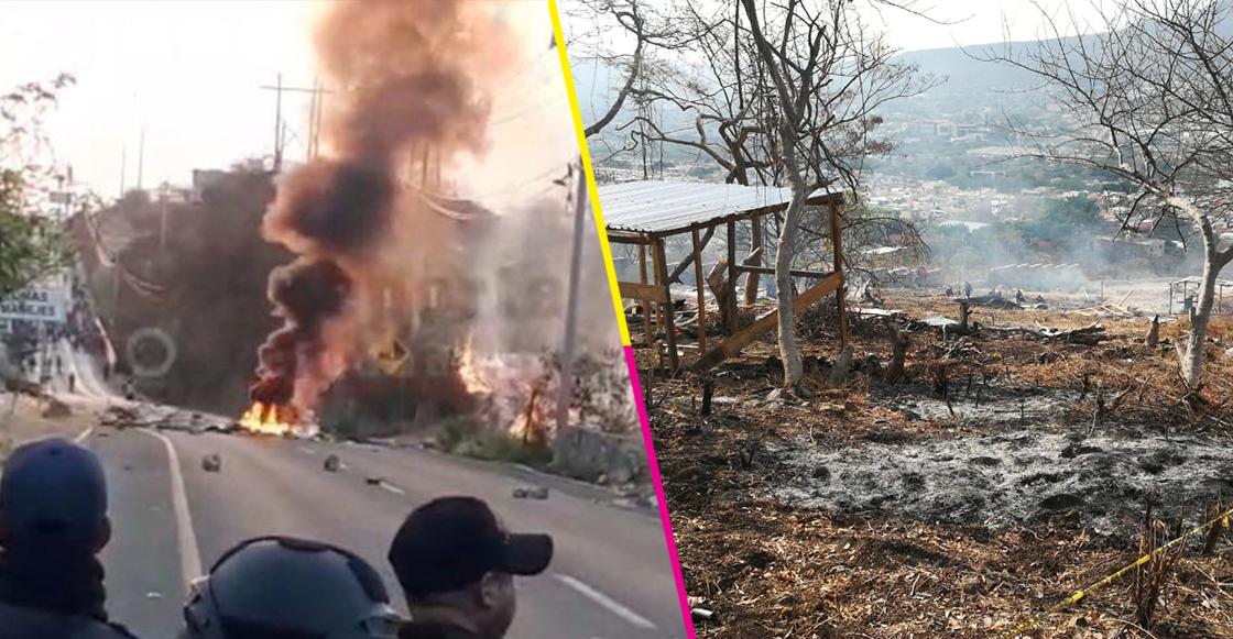 Tras desalojo de predio, integrantes de un movimiento campesino en Chiapas provocan destrozos