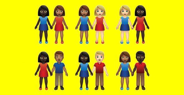 Amor para todos: ¡Ahora habrán emojis de parejas interraciales!
