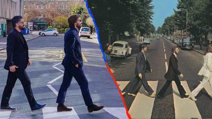 ¡Genios! La épica foto de Pirlo, Gattuso, Oddo y Ambrosini al estilo de 'The Beatles'