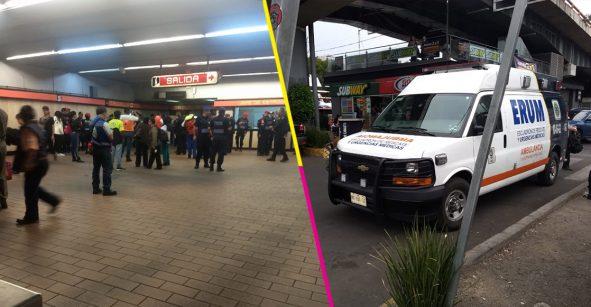 Las escaleras eléctricas en metro Mixcoac fallaron y provocaron 6 lesionados