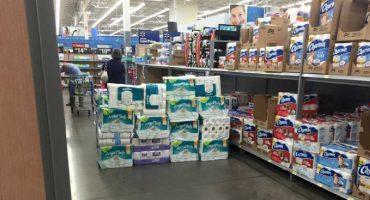 Crean un fuerte con papel de baño con un sólo propósito: Pasar la noche en un supermercado