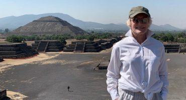 ¿Alguien se la encontró? ¡Glenn Close visitó las Pirámides de Teotihuacán! 😱