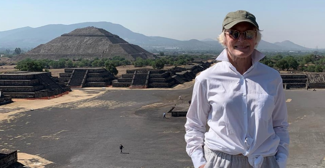 ¿Alguien se la encontró? ¡Glenn Close visitó las Pirámides de Teotihuacán!