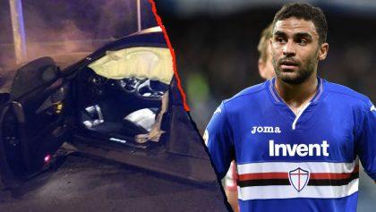 Jugador de la Sampdoria conducía ebrio y chocó al querer escapar de la policía
