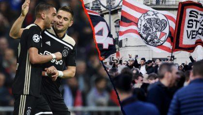 En imágenes: Así armó la fiesta la afición del Ajax en las calles de Madrid