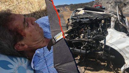 El impactante accidente de auto que sufrió Néstor de la Torre rumbo al Morelia vs América