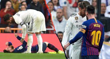 En imágenes: Así encaró Lionel Messi a Sergio Ramos tras darle un manotazo en la cara