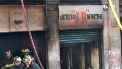 Incendio en Centro Histórico