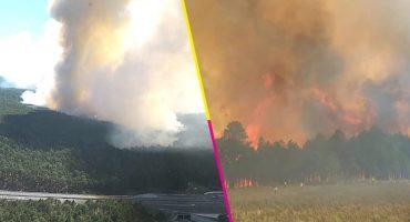 Se reporta fuerte incendio forestal en Las Vigas, Veracruz; al menos 2 mil evacuados