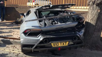 Aquí el momento exacto en el que destruyen un Lamborghini de 5.7 millones de pesos