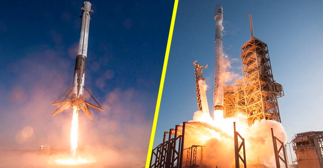 Lanzamiento de la cápsula Dragon Crew dentro del cohete Falcon 9, por SpaceX y la NASA