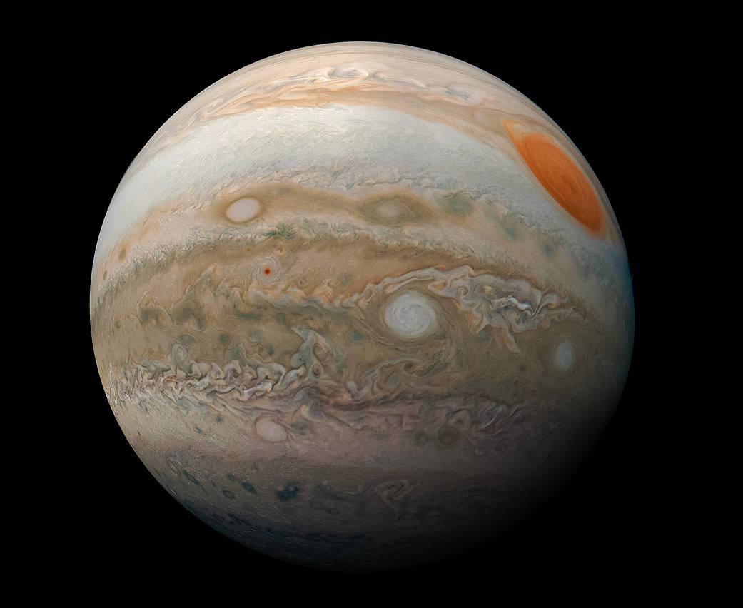 La fotografía más cercana a la Gran Mancha Roja de Júpiter