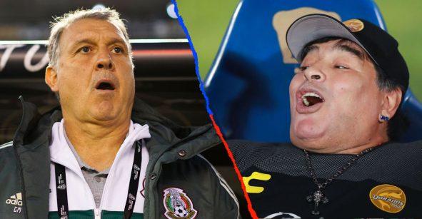 """Los elogios de Maradona al 'Tata' Martino: """"Déjenlo trabajar y le dará muchos triunfos a México"""""""