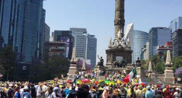 Poco ruido y menos gente: Así fue la marcha de los primeros 100 días de AMLO