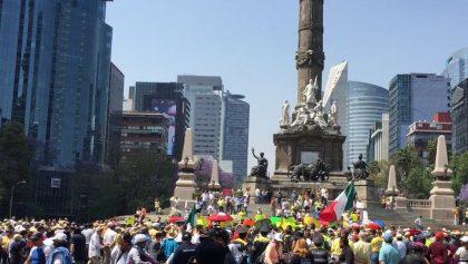 Marcha en contra de AMLO después de 100 días de gobernatura