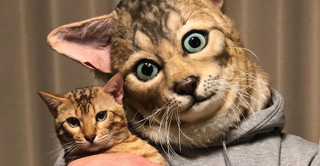 Máscaras que lucen idénticas al rostro de sus mascotas