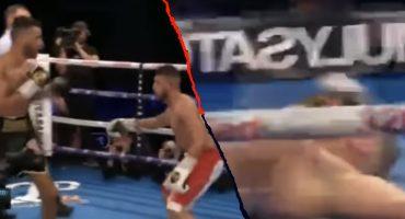 Por burlón y creído, boxeador noquea a su rival a segundos de perder la pelea