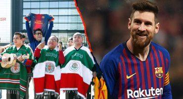 Mexicanos recibieron al Barcelona en Madrid al ritmo de guitarra y trompeta