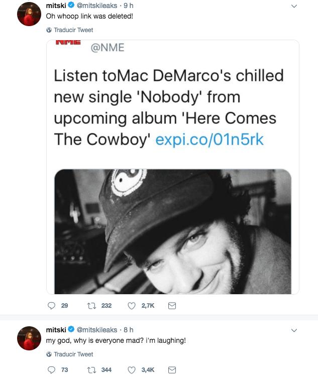 Mac DeMarco anuncia nuevo disco y la gente lo acusa de haberle copiado a Mitski