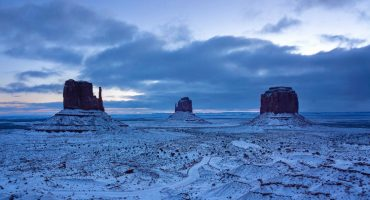 Así de genial se ve el desierto de Arizona en días nevados