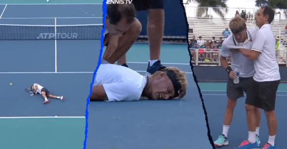 Los calambres de miedo que obligaron a Nicola Kuhn a abandonar el Masters 1000 de Miami