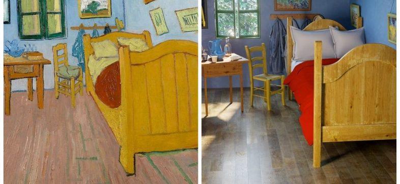 Pinturas famosas convertidas en escenarios reales
