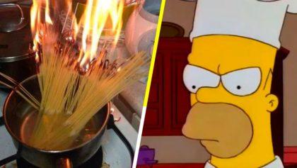 Estudiantes queman pasta por cocinarla sin agua.