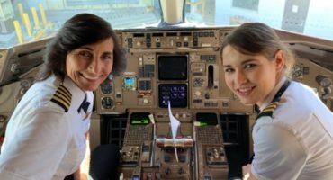 Female Power! Conoce a la madre e hija pilotos que vuelan el mismo avión