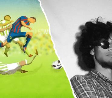 El artista de la ilustración de Messi reveló cómo rompió el internet con su obra