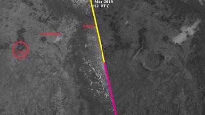 Así se vio la explosión del Popocatépetl desde el espacio